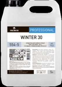 WINTER 30 средство для мойки стёкол при температурах не ниже -30°С 5л
